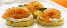 Island Shrimp Canapes