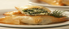 Artichoke, Spinach and Feta Triangles