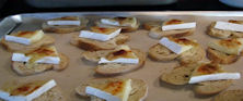 Brie and Sun dried Tomato Crustini