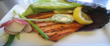 Grilled Salmon with Lemon Tarragon Butter