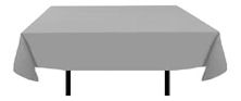 Grey Rectangular Linen Tablecloths