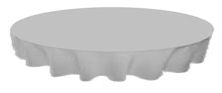 Grey Round Linen Tablecloth